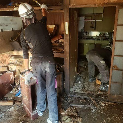 静岡県静岡市葵区川,木造鉄骨解体工事