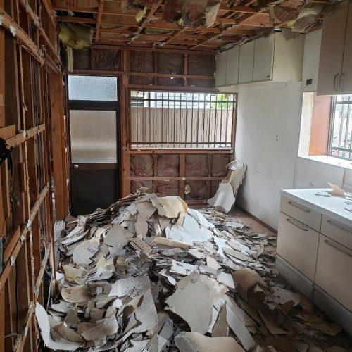 静岡市下川原,木造解体工事