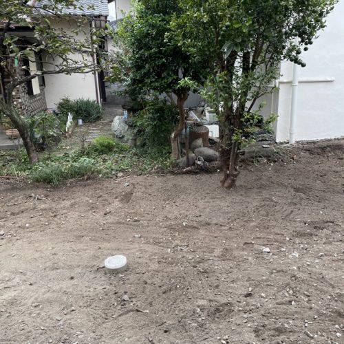 静岡県富士市,外構樹木撤去工事