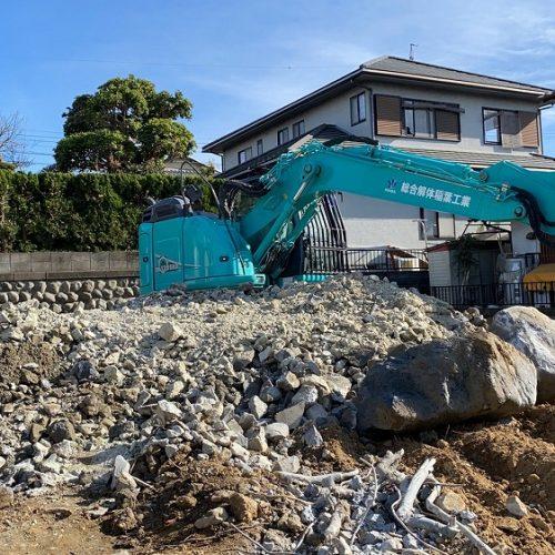静岡市駿河区大谷,木造解体工事